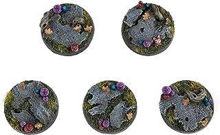 War World Gaming Dark Woodland Toadstool Goblin Basesx 5(25mm)-28mm Fantasy Wargaming Miniatures Model TerrainFigure ...