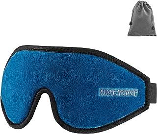 Onlygot アイマスク 安眠 遮光 睡眠 旅行 立体型 低反発 圧迫感なし 軽量 柔らかい 昼寝に最適(ブルー)