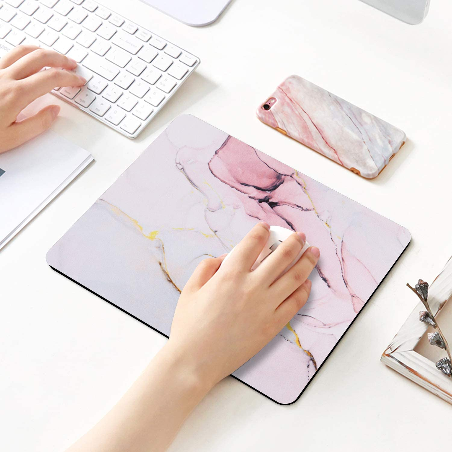 PC Ideal Partner for Working Or Game iLeadon Gaming Mouse Pad Customized Rectangle Non-Slip Rubber Mousepad with Mini Cute Funny Art Design for Mac Figure Painting Computers