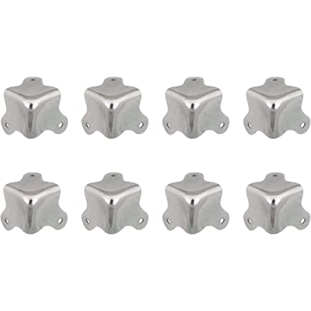 8PCS Vintage metal Decorative Corner Bracket for Chest Case Box MW DSUK