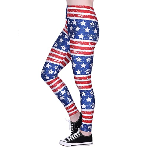 d5a8086a7a0 HDE Trendy Design Workout Leggings - Fun Fashion Graphic Printed Cute  Patterns