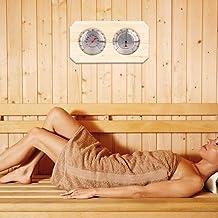 Omabeta Thermomètre de Sauna hygromètre en Bois 2 en 1 Accessoires de Sauna avec 20 ℃ -140 ℃ pour mesurer l'humidité de la...