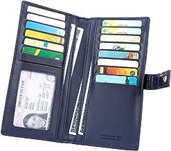 Women's Long Bifold Credit Card Holder Clutch Wallet with Zipper Pocket