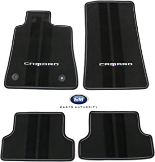 GM 23240684 Front and Rear Premium Carpet Floor Mats, Black with Gray Binding