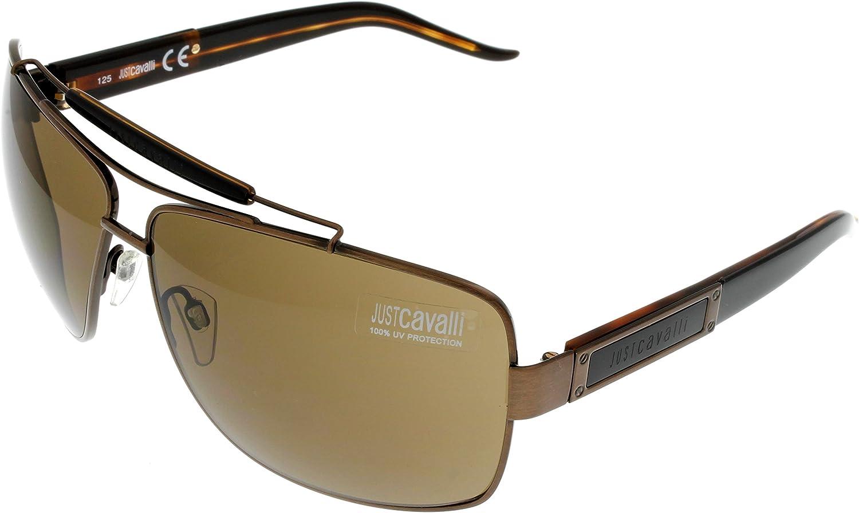 Just Cavalli Sunglasses Aviator Unisex 193S 48J Brown Black Havana