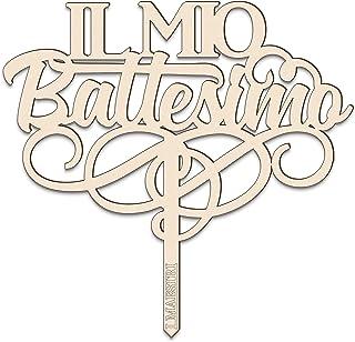 Cake topper IL MIO BATTESIMO L 18 cm in legno – I MAESTRI Made in Italy