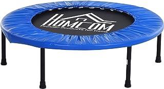 comprar comparacion HOMCOM Cama Elástica Trampolín con diámetro 81/96/114cm y Muelles Resistentes hasta 100kg Color Azul Oscuro (S-Φ81 x 22,5cm)