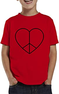 Peace and Love Heart Toddler T-Shirt
