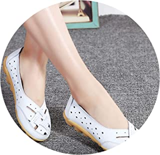 Women Comfort Genuine Leather Flat Shoes Women Slipony Loafers Ballet Shoes Female Moccasins
