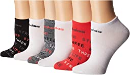 Superlite 3-Stripe Life No Show Socks 6-Pack