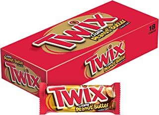 TWIX Peanut Butter Chocolate Cookie Bar Candy, 1.68-Ounce 18-Count Box