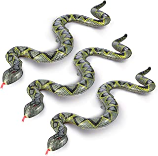 FuturePlusX 3PCS PVC Fake Snake Toy Inflatable Snake Floating Snake for Garden Farm Party