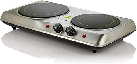 Ovente 1700W Double Hot Plate Electric Countertop Infrared Stove 6.5 & 7 Inch with 5..