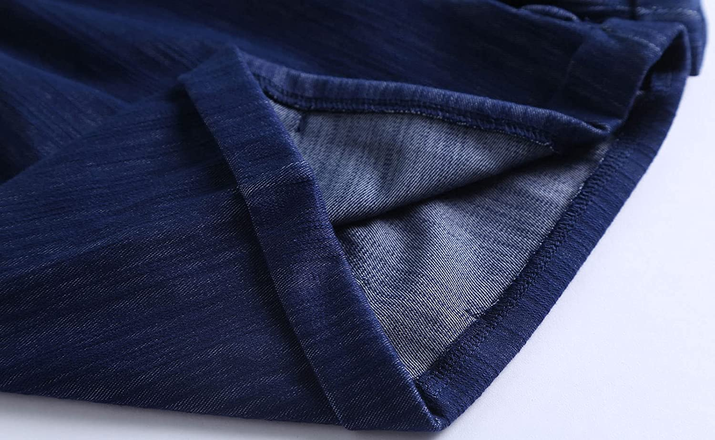 Yoinlia Women's Summer Casual Drawstring Elastic Waist Shorts