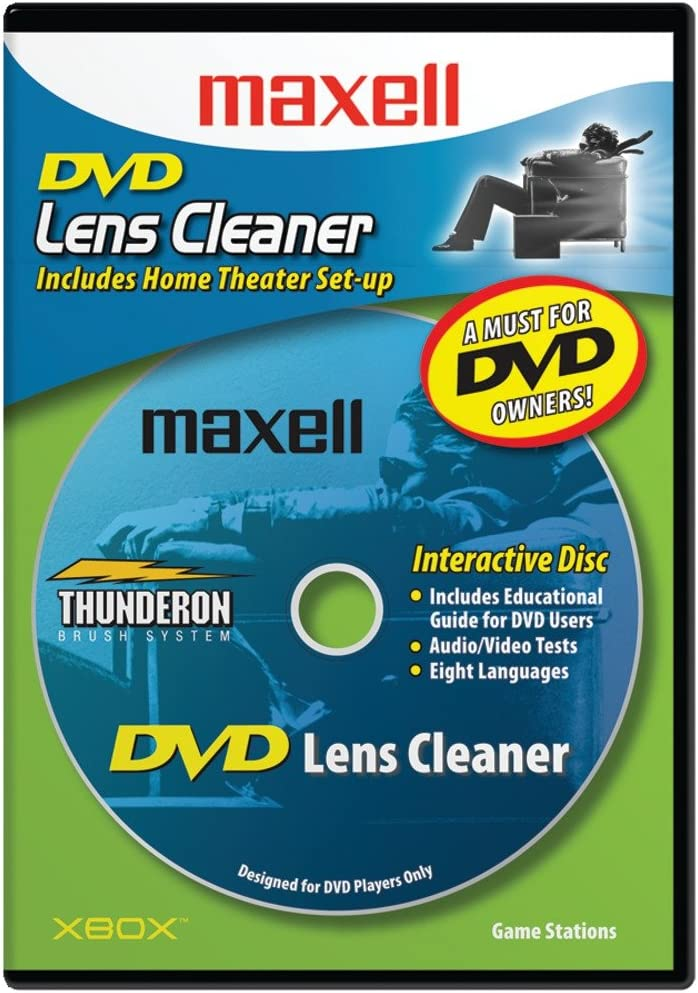 Maxell Latest item DVD-LC DVD Cleaner Lens NEW before selling ☆