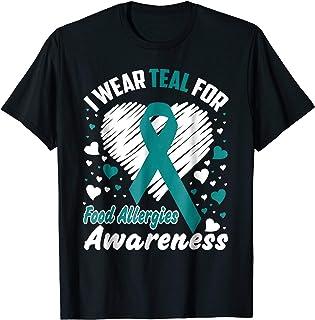 I Wear Teal For Food Allergies Awareness T-Shirt Tee Shirt