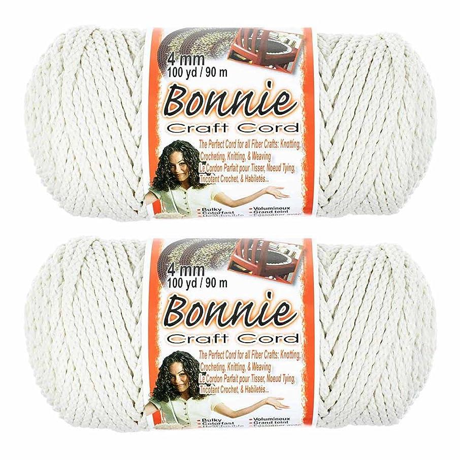 4mm Macramé Craft Bonnie Cord 100 Yard Skein 2 Pack (Lamb's Wool)