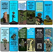 Creanoso Army Bookmarks (60-Pack) – Bookmarker Cards Bulk Set – Premium Gift for Men, Patriots, Veterans Adults – Military Giveaway Tokens Gift Ideas – Soldier Rewards Incentives Book Clippers