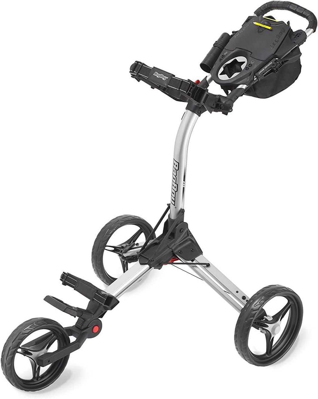 Bag Boy Compact 3 Push Cart, Silver