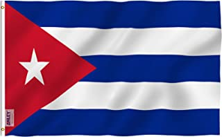 Anley Fly Breeze 3x5 Foot Cuba Flag - Vivid Color and UV Fade Resistant - Canvas Header and Double Stitched - Cuban National Flags Polyester with Brass Grommets 3 X 5 Ft
