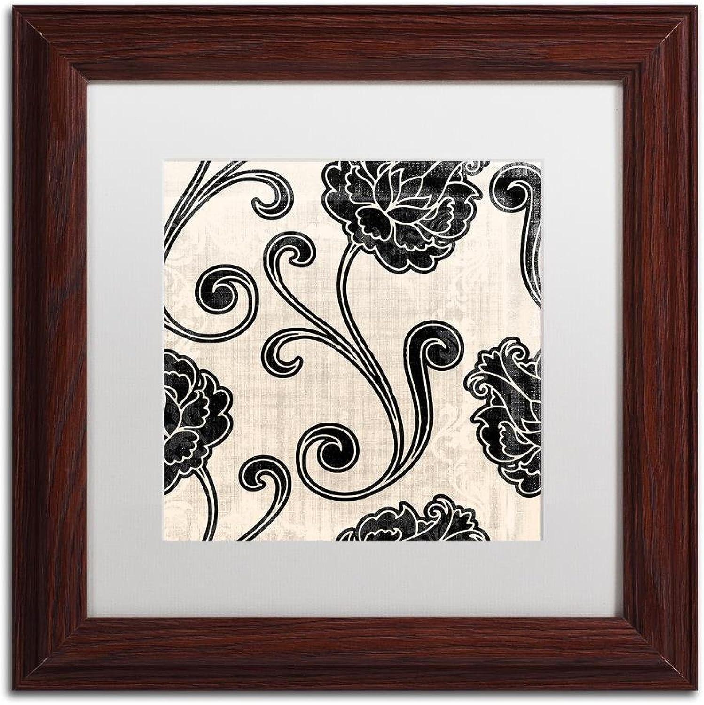 Trademark Fine Art ALI4581W1111MF Stylesque I by color Bakery, White Matte, Wood Frame 11x11