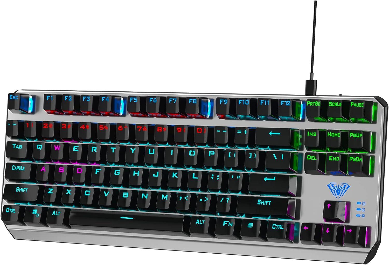 AULA F3087 Compact Mechanical Gaming Keyboard