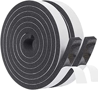 Weather Stripping for Doors 3/4 Inch Wide X 5/16 Inch Thick, Soundproofing Window Sealing Tape High Density Adhesive Foam ...