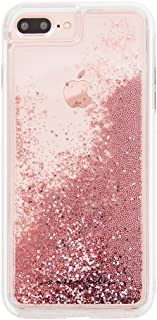 Case-Mate iPhone 8 Plus Case - WATERFALL - Cascading Liquid Glitter - Protective Design for Apple iPhone 8 Plus - Rose Gold