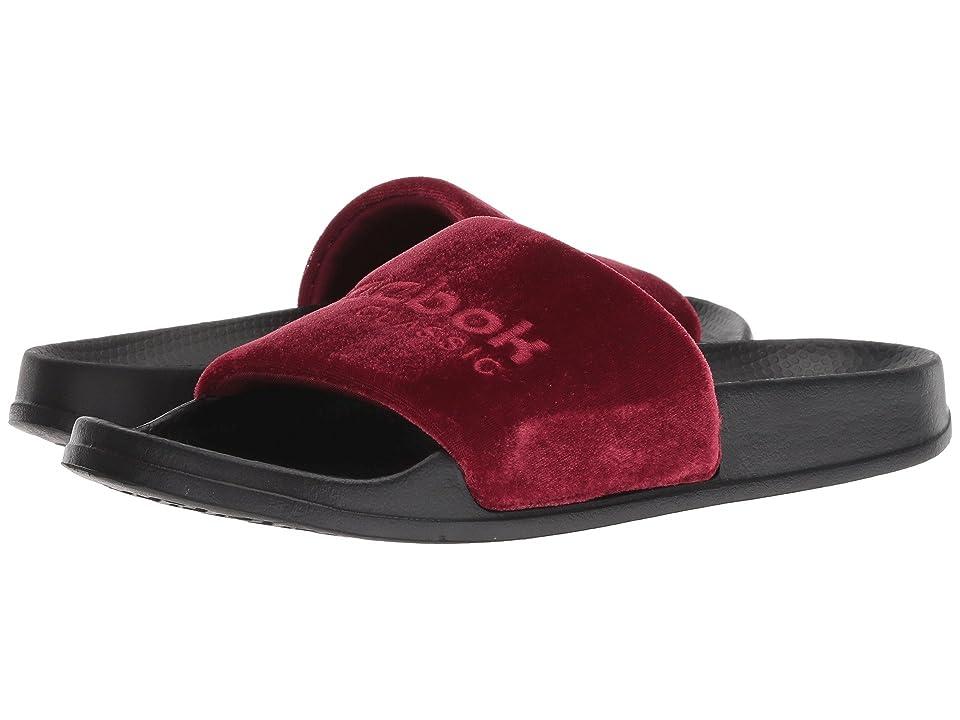 Reebok Lifestyle Classic Slide (Collegiate Burgundy/Cranberry Red/Black/White/Velvet) Men