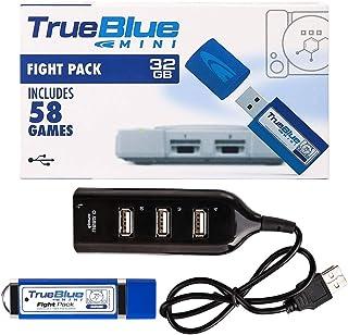 Goshfun True Blue Mini Fight Pack 58 Games for Playstation Classic, 32 GB