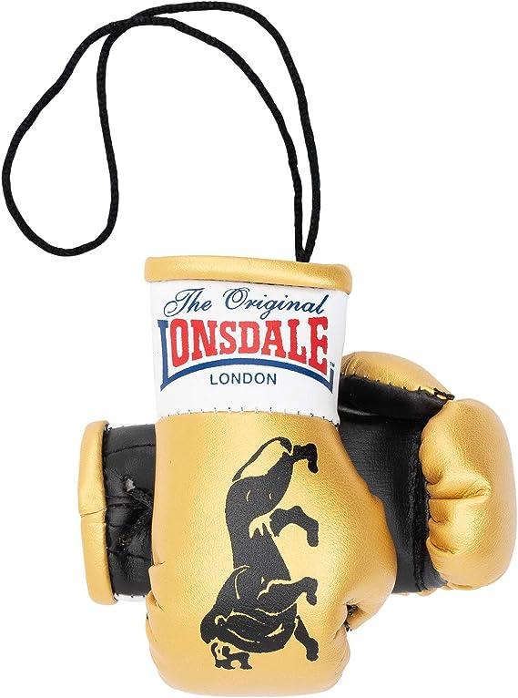 Lonsdale Mini Boxhandschuhe Gold Schwarz Sport Freizeit