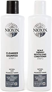 Nioxin System 2 Duo Pack, Cleanser 300ml and Scalp Therapy Revitalising Conditioner 300ml