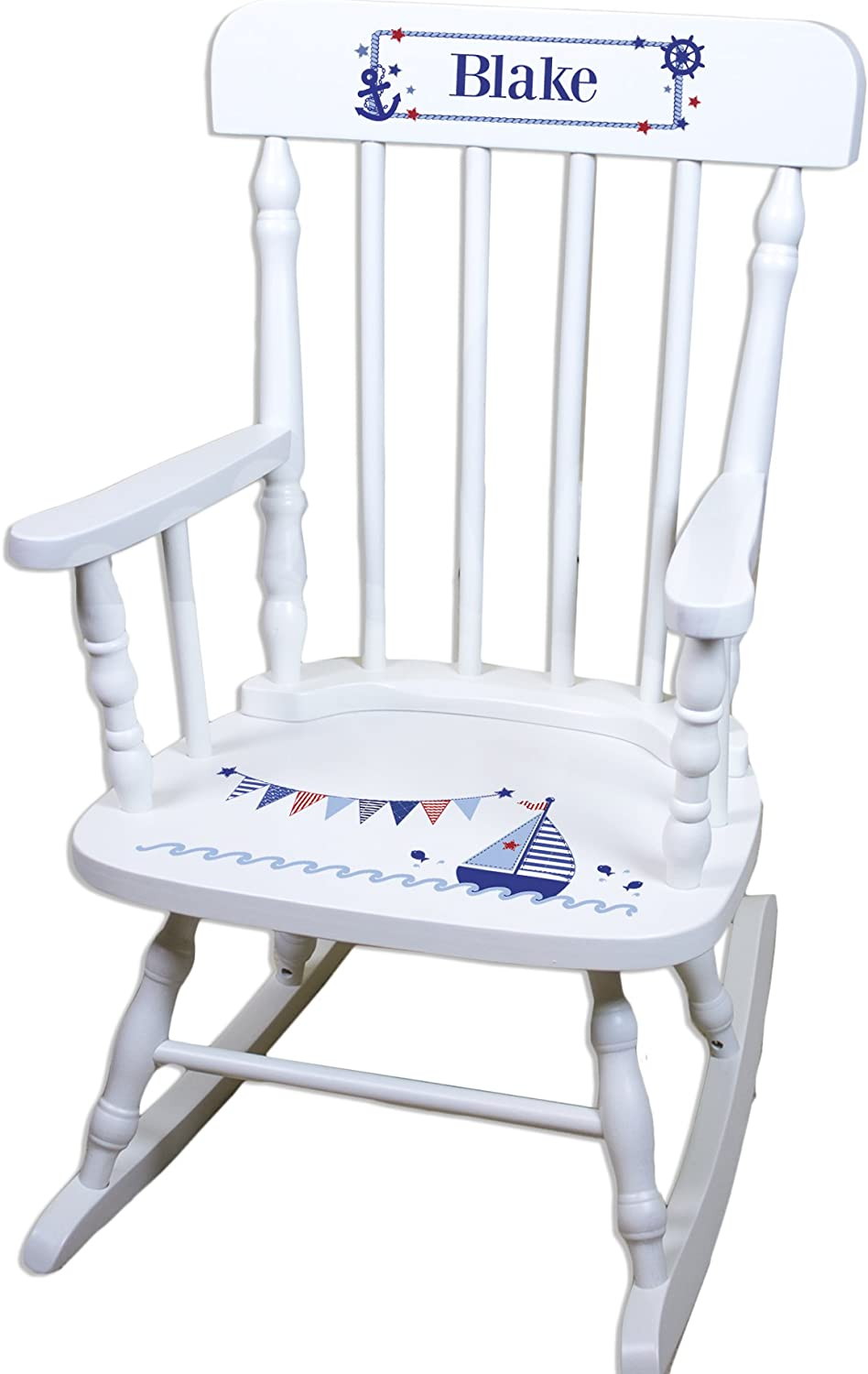 Children's Personalized White Rocking Popularity Sailboat Popular brand Chair