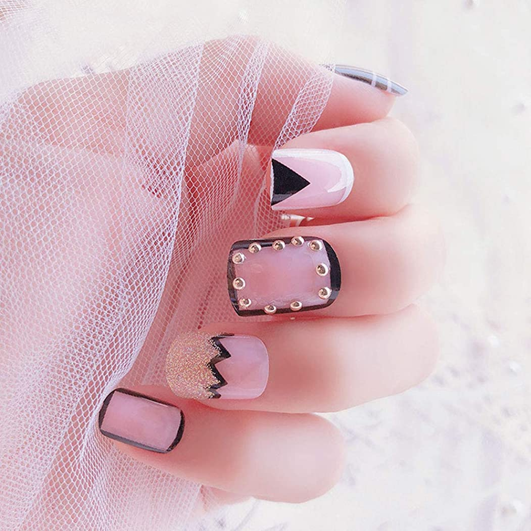消す不当放映24ピース/セット自己粘着ネイルアートステッカーデカールネイルケアデコレーション24枚爪爪足の爪ネイルチップ用女性女の子