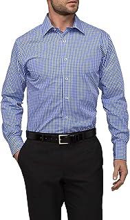 Van Heusen Men's Euro Tailored Fit Shirt Medium Check