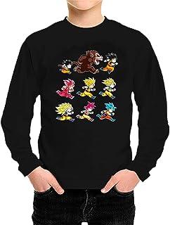Camiseta Manga Larga Dragon Ball - 100% Algodón pre-encogido y peinado de 165 gr. Costuras laterales. Corte recto.