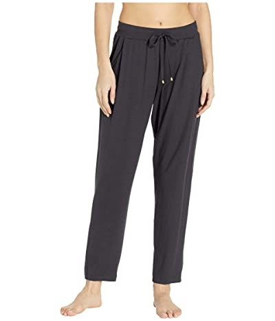 Hanro Sleep Lounge Knit Long Pants (Black Caviar) Women