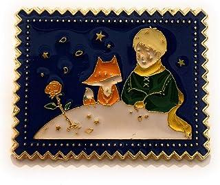 giulyscreations Spilla Il Piccolo Principe Ispirata Metallo Nichel Free Petit Prince Volpe Rosa Cornice Disegno Pin Essenz...