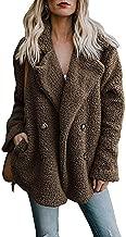 Women Lapel Pocket Button Long Sleeves Warm Solid Color Woolen Outwear Jacket Newest Arrival