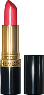 Revlon Super Lustrous Lipstick with Vitamin E and Avocado Oil, Pearl Lipstick in Pink, 425 Softsilver Red, 0.15 oz