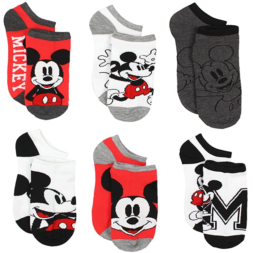 Mickey and Minnie Mouse 6 pack Socks (Toddler/Little Kid/Big Kid/Teen/Adult)