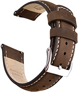 Ritche Quick Release Leather Watch Bands for Men - 18mm 20mm 21mm 22mm 23mm 24mm Top Grain Leather Watch Strap
