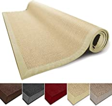 casa pura Sisal Rug Runner - 100% Natural Fiber Area Rug | Non-Skid Rustic Entryway Rug, Living Room Carpet or Kitchen Rugs and Sizes | Natural - 2.5' x 10'
