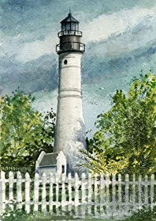 Key West Lighthouse Florida Keys Matted Watercolor Art Prints