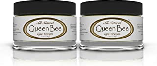 Queen Bee - All-Natural, Organic Under Eye Cream (2 Jars) - Removes Facial Lines Naturally (1 Ounce Per Jar)