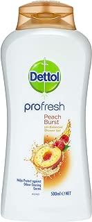 Dettol Profresh Shower Gel Peach Burst Body Wash, 500ml