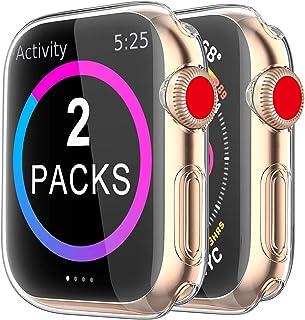 2 Pack Funda Apple Watch 40mm Series 6/5/4/SE, Protector Pantalla iWatch Case Protección Completo Anti-Rasguños Ultra Tran...