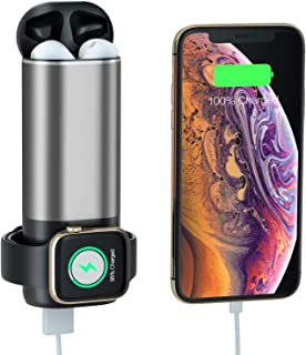 Portable Charger for Apple Watch, 3 in 1 Charging Power Bank for iWatch Series 4/3/2/1, AirPods, 5200mAh USB Output External Battery Pack for iPad, iPhone, Samsung Galaxy and Other USB Device