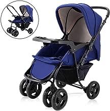 Costzon Infant Stroller Two Way Foldable Baby Toddler Pushchair w/Storage Basket (Blue)