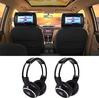 Rockville RTSVD961-BK 9 Black Touchscreen DVD/HDMI Headrest Monitors+Headphones